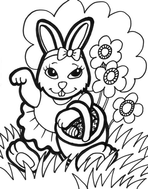 Free Printable Easter Bunny Coloring Pages For Kids Free Colouring