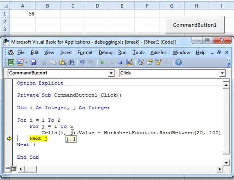 coding in visual basic for excel debugging in excel vba easy excel macros