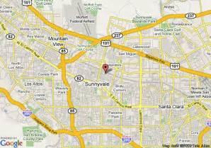 where is sunnyvale california on a map map of pacific inn of sunnyvale sunnyvale