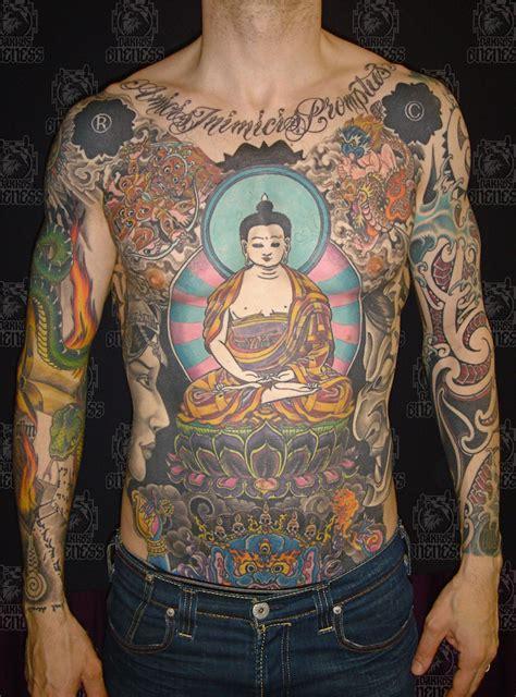 idees tatouage symbole bouddhiste empreint de