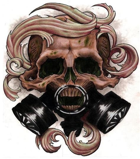 skull mask tattoo designs 17 best ideas about gas mask on sleeve