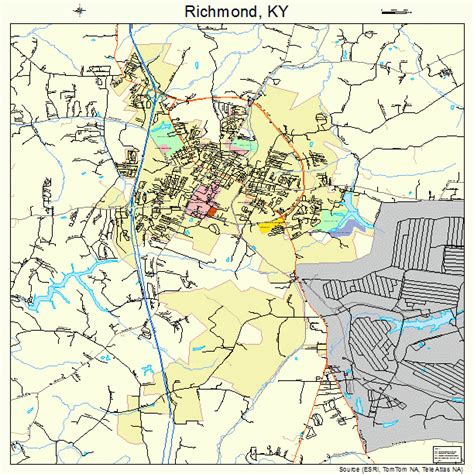 ky map forms battle of richmond kentucky map images