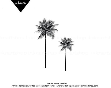 2pcs palm tree tattoo 2 sizes inknart temporary tattoo