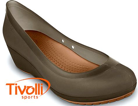 Carlisa Wedges sapatilha crocs carlisa mini wedge gt salto marrom