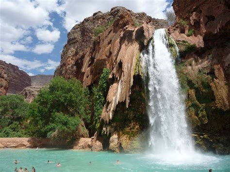 secret waterfall in the grand canyon popsugar smart living photo 8