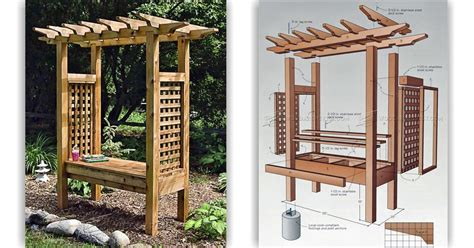 Arbor Bench Plans by Arbor Bench Plans Woodarchivist