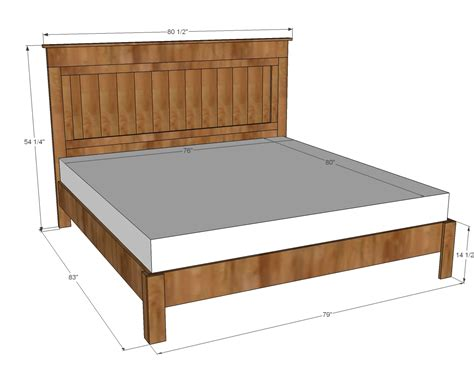 What Size Is A King Bed Frame White King Size Fancy Farmhouse Bed Diy Projects