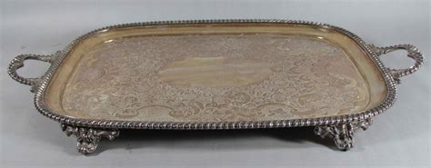 extra large serving tray for extra large silver plated footed serving tray