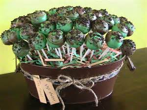 Camouflage Baby Shower Decorations Just Right Cake Pops Camo Baby Shower