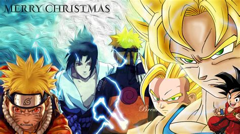 dragon ball z christmas wallpaper naruto christmas wallpapers wallpaper cave