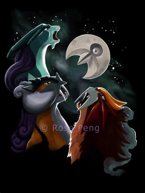 3 Wolf Moon Meme - three pokemon lunatone by dragofyre7 on deviantart