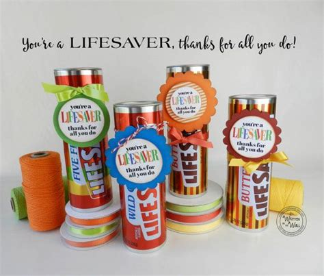 You Re A Lifesaver Treat Tag Thank You Gift Teacher