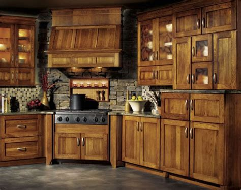 rustic kitchen cabinet ideas hickory kitchen cabinet pictures and ideas