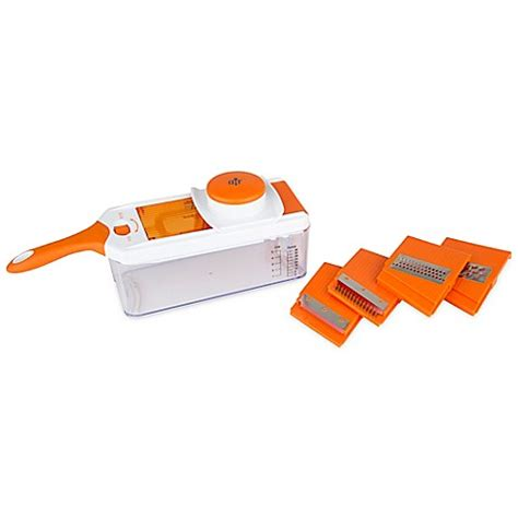bed bath and beyond mandoline allrecipes adjustable mandoline in orange bed bath beyond