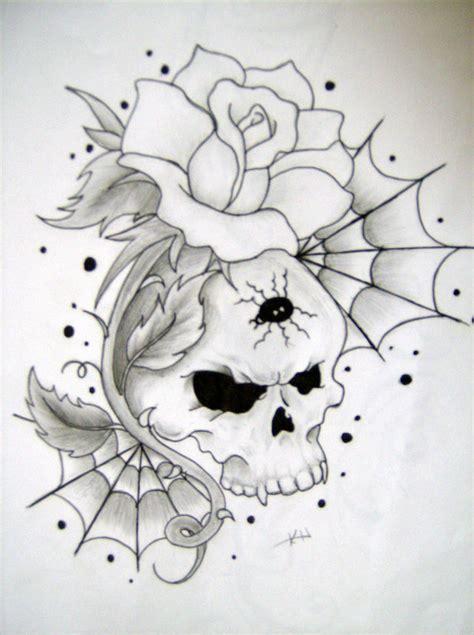 skull and rose by wickedsesshy on deviantart