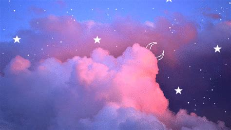 gif wallpaper macbook air cotton candy clouds and strawberry sunshine