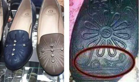 Sepatu Wanita Motif Amerika beredar sepatu wanita atasnya berlambang salib dan alasnya