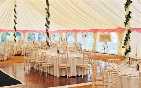 pretty wedding marquee white pink colour scheme