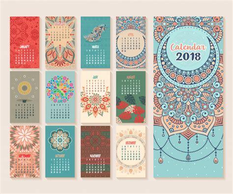pattern design competition 2018 calendar 2018 vintage decorative elements oriental
