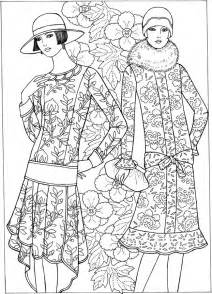 fashion coloring pages welcome to dover publications creative deco