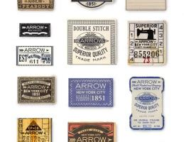 arrow cluett labels and packaging by glenn wolk via graphic design miscellaneous archives graphic art news