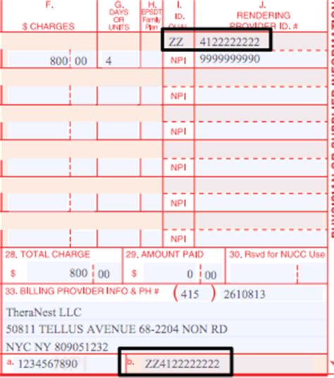 additional insurance provider ids (i.e., taxonomy code