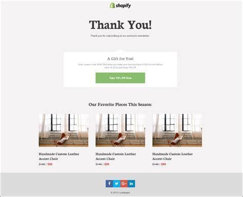 Shopify Thank You Page Template Shopify Leadpages Use Them Together With New Templates