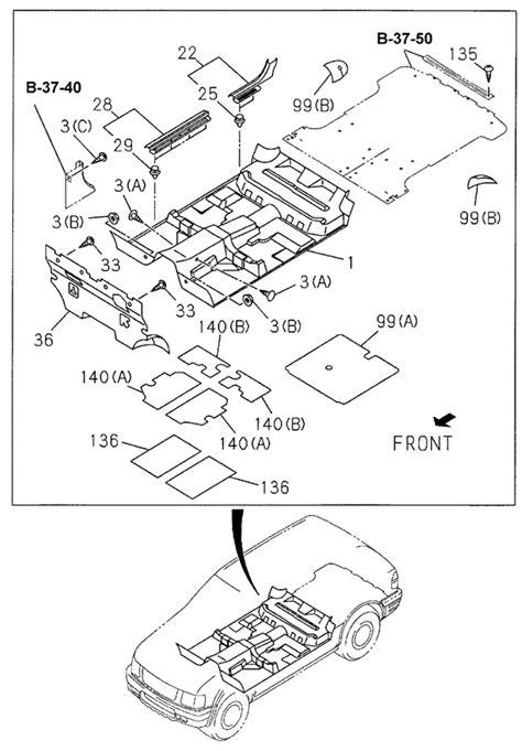 Honda Passport Parts Oem 1998 Honda Passport Sedan Floor Mat Parts