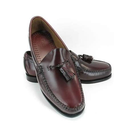 bass mens shoes loafers g h bass mens burgundy leather tassel retro loafers slip