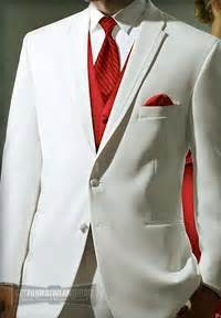 Diamond white tux with hot pink under it not red wedding color black