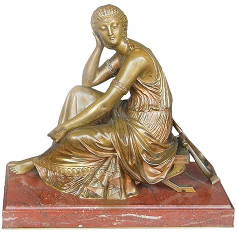 Bronze L bronze nouveau classical figural by l