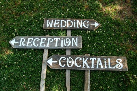 Wedding Signs by Receptions Sign Wedding Sign Cocktails Sign Bar Sign Yard
