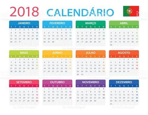 Portugal Calend 2018 Calend 225 2018 Vers 227 O Em Portugu 234 S Vetor E Ilustra 231 227 O