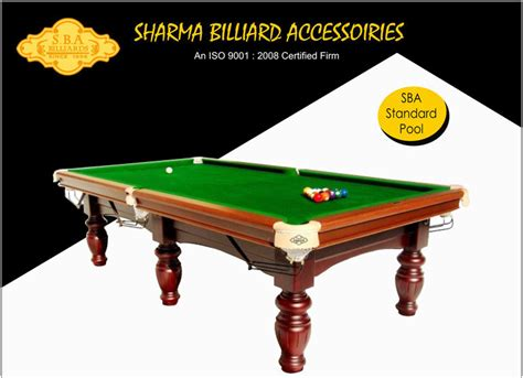 standard pool table manufacturer exporter supplier in