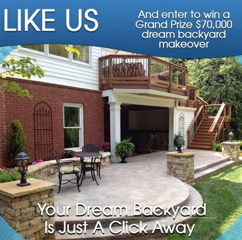 free backyard makeover contest enter to win a backyard makeover facebook giveaway