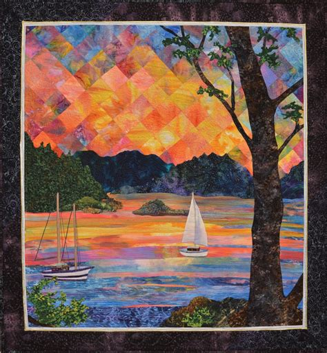 pattern landscape art kathy mcneil art quilts award winning quilt artist