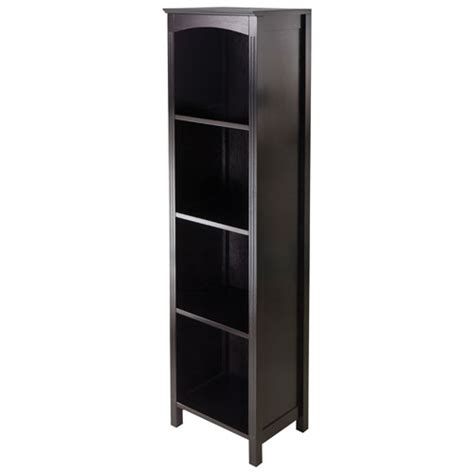 terrace 4 shelf storage shelf espresso bookcases