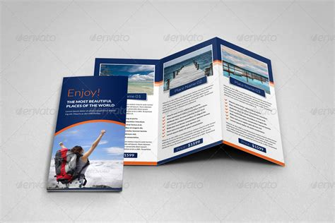 travel agency brochure template travel agency trifold brochure template by janysultana