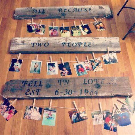 Wedding Anniversary Ideas For Parents 30th 30th anniversary gift for my parents crafty