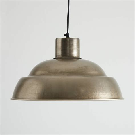 Nickel Pendant Light Antique Nickel Pendant Light By Horsfall Wright Notonthehighstreet