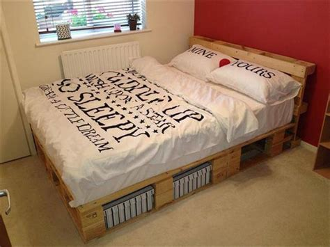 pallet bed with storage 40 diy ideas easy to install pallet platform beds