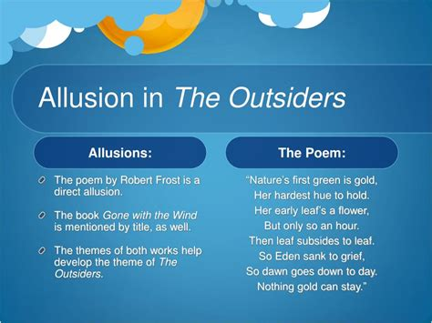 themes found in the outsiders ppt literary term allusion powerpoint presentation id