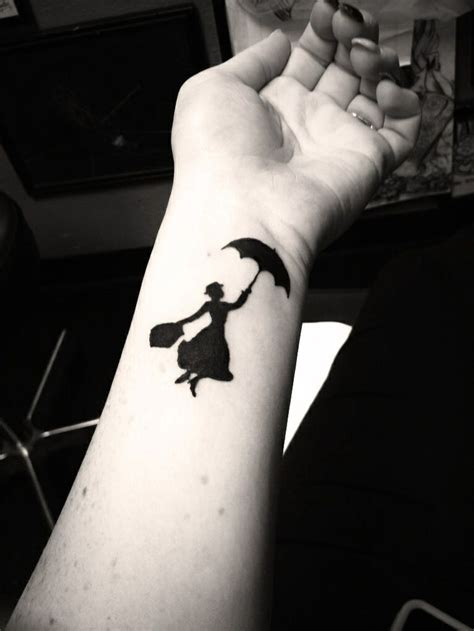 wrist tattoo art poppins wrist