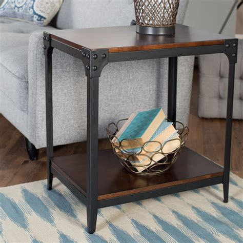 industrial end table belham living trenton industrial end table espresso