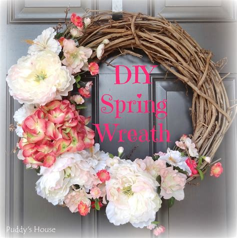 diy spring wreath 2014 diy spring wreath puddy s house