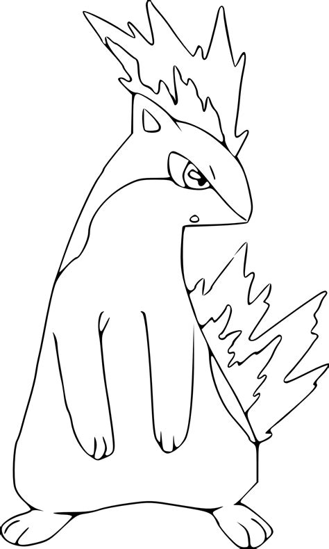 pokemon coloring pages quilava pokemon quilava coloring page
