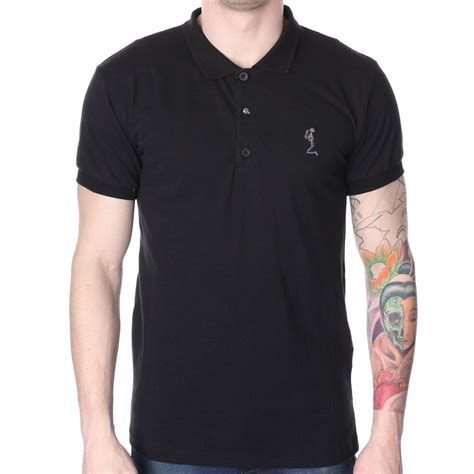 Polo Shirt Black Tide Original religion plain polo t shirt religion from the menswear