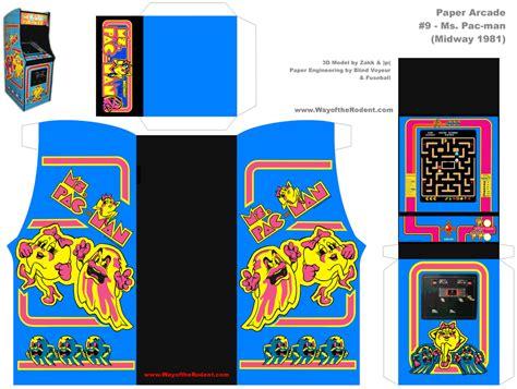 Arcade Papercraft - paper arcade ms pac hi res originally