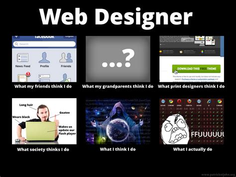 Website Meme - what people think i do developer memes