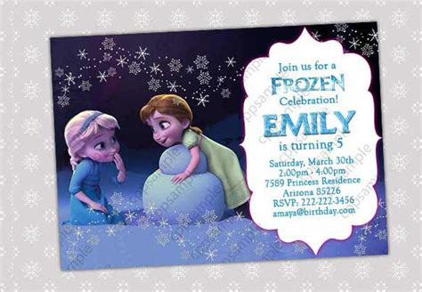 frozen birthday card template 26 frozen birthday invitation templates free sle exle format free
